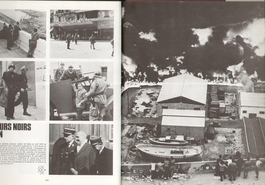 De nombreux témoignages,l'évocation des combats jusqu'à l'indépendance, et les rapatriés, photo : les jours noirs d'Oran