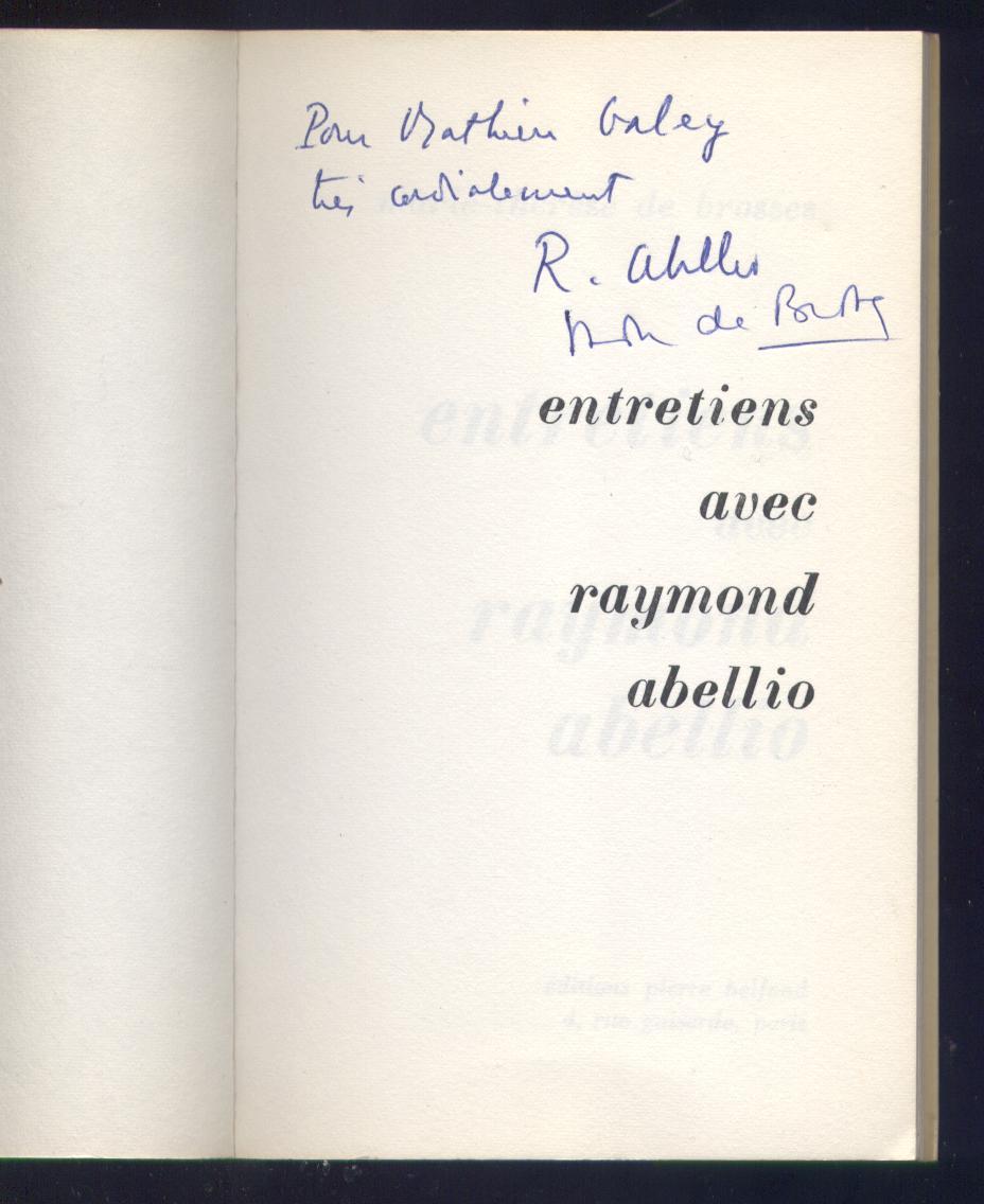 Edition Pierre Belfond 1966