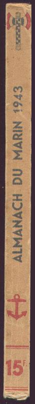 Dos à la francisque - Almanach du Marin 1943, EO, TBE, 60 € en vente sur www.histoire-memoires.com/almanach-du-marin-1942.htm