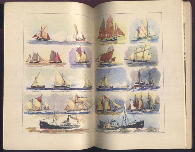 illustration photo pleine double page : bateaux, livre en tbe,60 € en vente sur www.histoire-memoires.com/almanach-du-marin-1942.htm