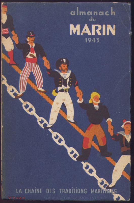 160 pages + Nombreuses photos noir et blanc en Hors-Texte non paginé, livre en tbe,60 € en vente sur www.histoire-memoires.com/almanach-du-marin-1943.htm