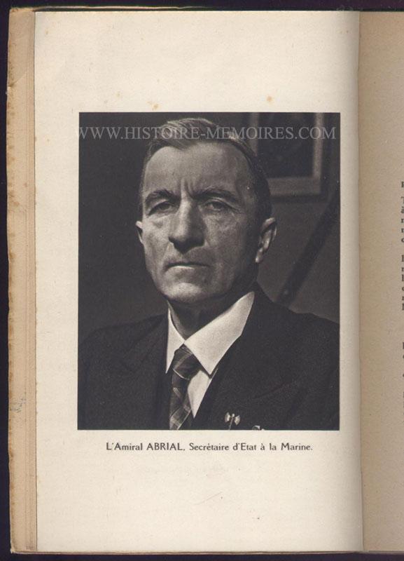 illustration photo pleine page amiral abrial, livre en tbe,60 € en vente sur www.histoire-memoires.com/almanach-du-marin-1942.htm