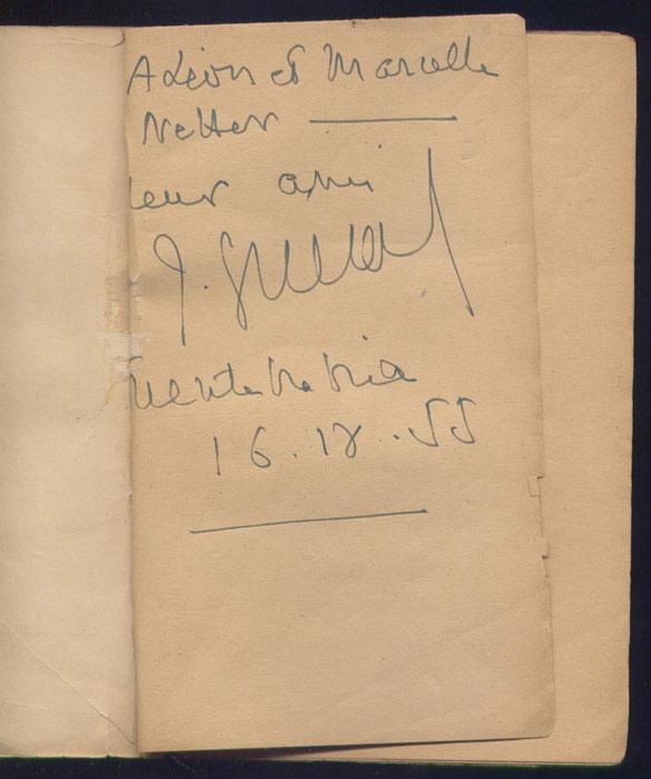Dédicace de Jacques Guerard,  Criminel de Paix,Ed. Nouvelles Editions Latines 1953 - Edition Originale