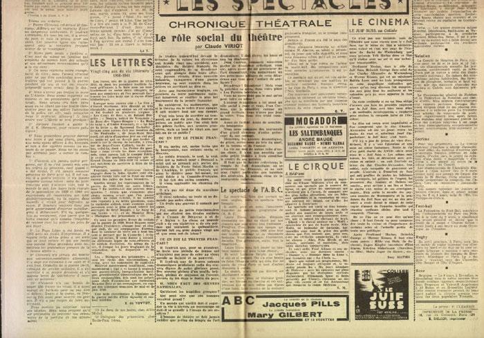 Clémenti Pierre, journal le Pays Libre, 1er mars 1941, hebdomadaire, Organe de presse du Parti Français National Collectiviste en vente sur www.histoire-memoires.com/clementi-le-pays-libre-1-03-1941.htm