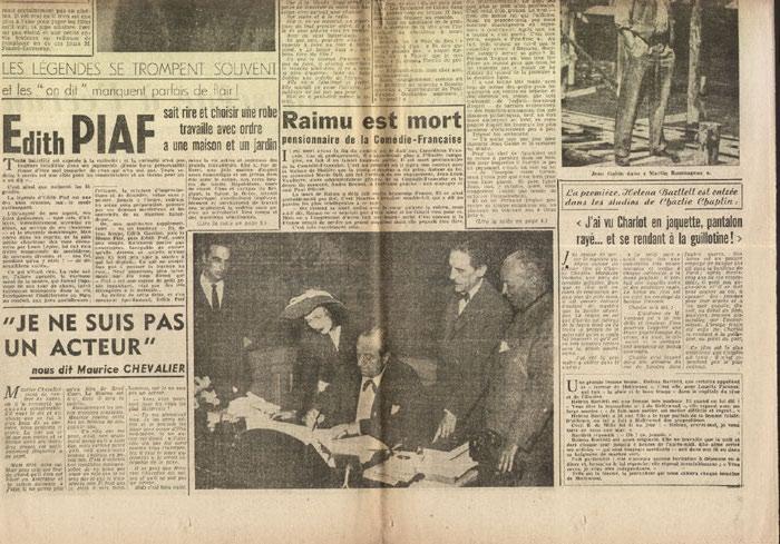 très rare publication sortie pour le lancement après guerre du Festival de Cannes,première année Nº 1, Journal JEUDI-CINEMA du Jeudi 03 Octobre 1946, en vente sur www.histoire-memoires.com/journal-jeudi-cinema-premier-festival-de-cannes-1946.htm