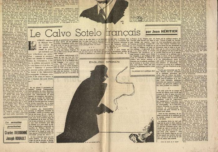 Editorial de Jean Herold-Paquis, dernier éditorial de P. Henriot, L'Appel,journal hebdomadaire du 06 Juillet 1944 en vente sur www.histoire-memoires.com/journal-l-appel-mort-de-henriot.htm