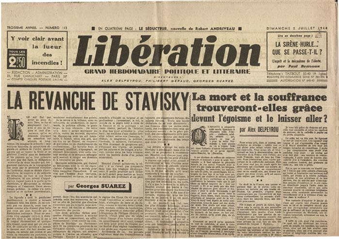 Editorial de Jean Herold-Paquis, dernier éditorial de P. Henriot, Libération,journal hebdomadaire du 02 Juillet 1944 en vente sur www.histoire-memoires.com/journal-liberation-1944-mort-de-henriot.htm