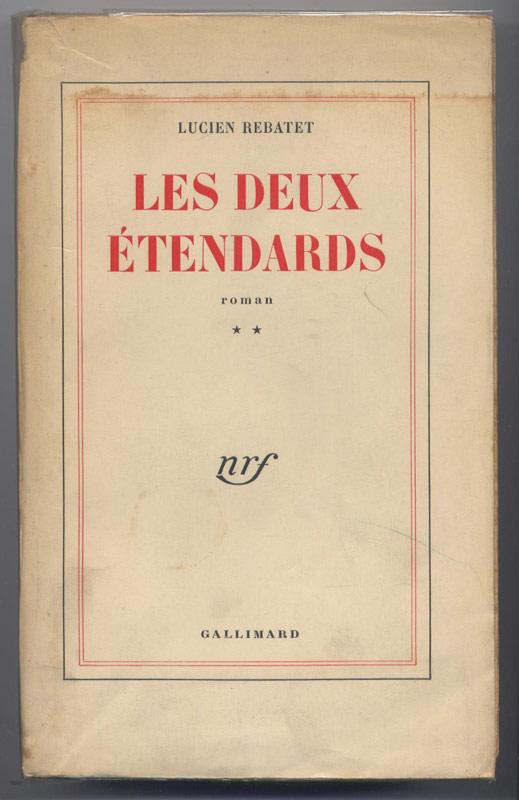 Cette œuvre, considérée comme de grande qualité est une violente entreprise de démolition du christianisme,REBATET Lucien Les deux étendards, 2 volumes, Gallimard Paris 1951, édition originale sur papier courrant