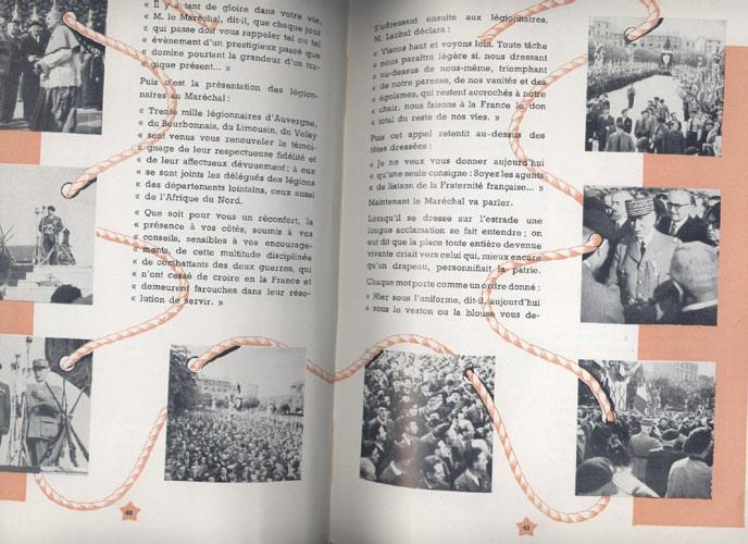 Revue GERGOVIE, Anniversaire de la Légion 30 Août 1942, Place de Jaude, en présence de 30 000 légionnaires, est célébrée, à la mémoire des morts des deux guerres, une messe en plein air