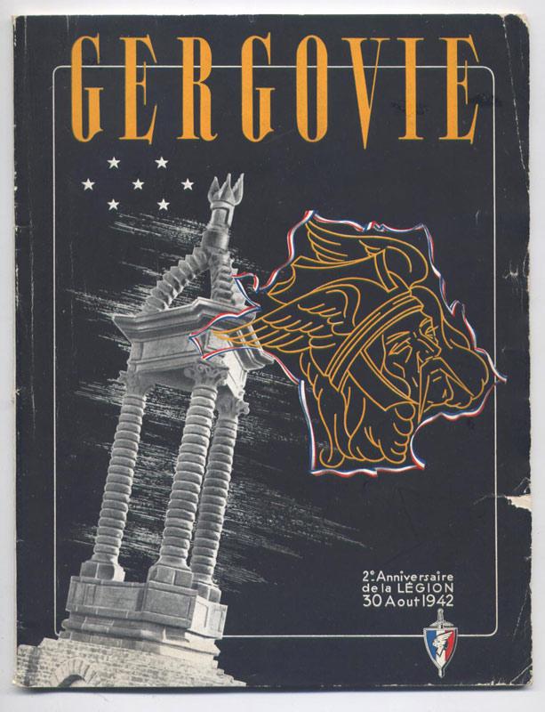 Gergovie revue anniversaire de la Légion 30 Août 1942 en vente sur www.histoire-memoires.com - Librairie on-line - Marseille
