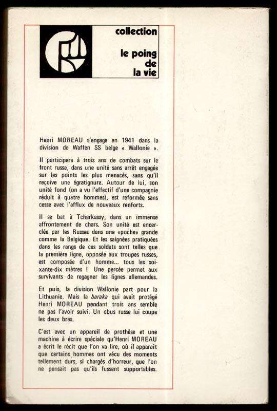 Titre: la neige et le sang, auteur: Henri Moreau, Editions:  de la pensée moderne,coll.: le poing de la vie, 1972,Edition originale,en TRES BON ETAT, en vente sur www.histoire-memoires.com/moreau-henri-alias-paul-terlin-la-neige-et-le-sang.htm