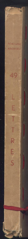 Dos de la reliure de Fortuné Andrieu, envoyées au Maréchal Pétain , Chef de l' Etat , du 13 Juin 1940 au 26 Avril 1945 : 49 lettres écrites à la manière de G. CLEMENCEAU
