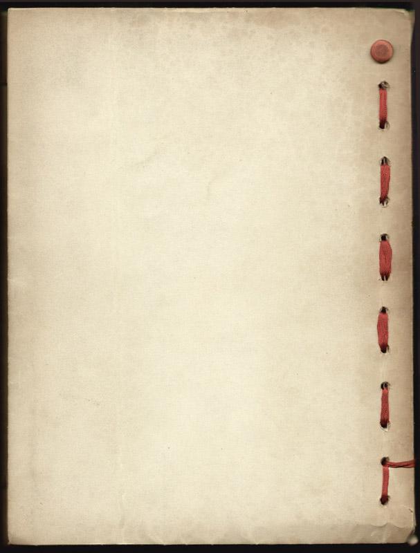Verso de la reliure de Fortuné Andrieu, 49 lettres écrites à la manière de G. CLEMENCEAU , envoyées au Maréchal Pétain , Chef de l' Etat , du 13 Juin 1940 au 26 Avril 1945.