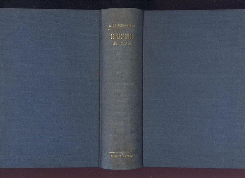 Reliure éditeur toilée gris-bleue, titre gravé or