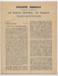 Auteur : PHILIPPE HENRIOT, Titre : PHILIPPE HENRIOT vous parle au radio-journal de France, Radio-Vichy : allocutions prononcés du 22 au 28  Février 1944, EO, 16 €, en TBE en vente sur www.histoire-memoires.com/henriot-vous-parle-radio-journal-22-au-28-fevrier-1944.htm