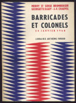 bromberger-elgey-chauvel-barricades-colonels-fayard-1960,algerie,francaise