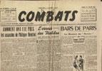 Joseph Darnand, journal COMBATS, 29 Juillet 1944, hebdomadaire, Édité par la MILICE FRANÇAISE en vente sur www.histoire-memoires.com/combats-journal-de-la-milice-29-07-1944.htm