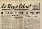 Clémenti Pierre, journal le Pays Libre, 22 février 1941, hebdomadaire, Organe de presse du Parti Français National Collectiviste en vente sur www.histoire-memoires.com/clementi-le-pays-libre-22-02-1941.htm