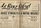 Clémenti Pierre, journal le Pays Libre, 03 mai 1941, hebdomadaire, Organe de presse du Parti Français National Collectiviste en vente sur www.histoire-memoires.com/clementi-le-pays-libre-3-05-1941.htm